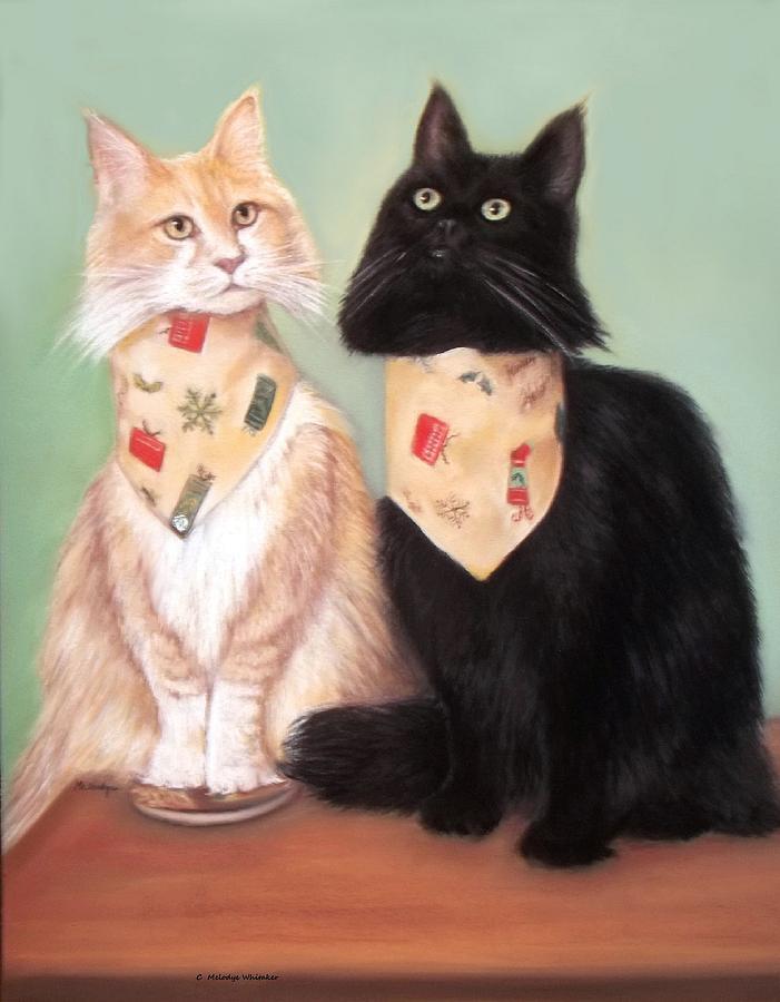 Cats Pastel - Simon And Magic by Melodye Whitaker
