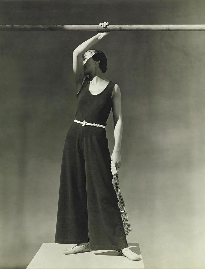 Simone Demaria In A One-piece Pajama Photograph by George Hoyningen-Huene