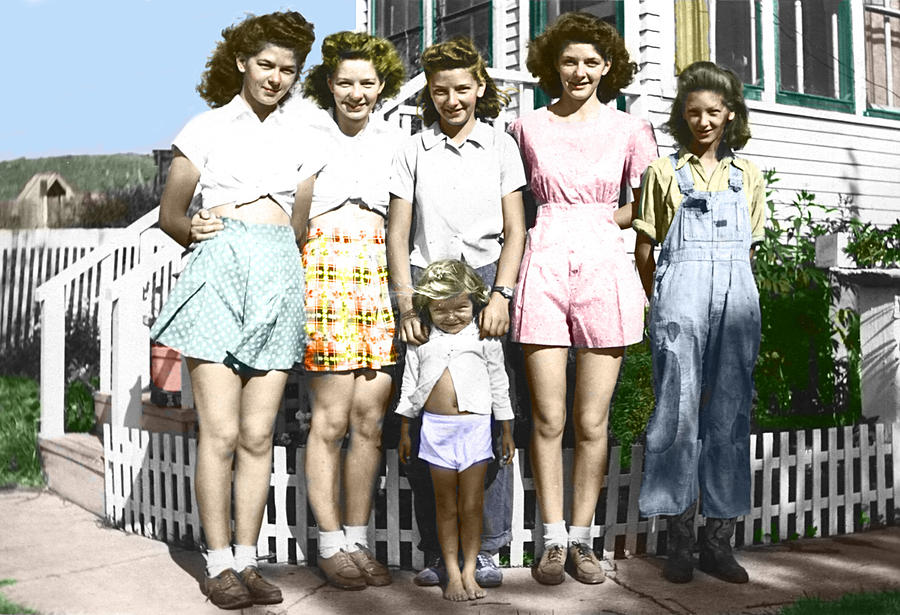 Vintage Photograph - Simonson Sisters by Douglas Simonson