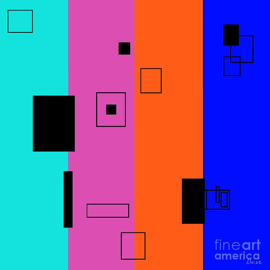 Abstract Painting - Simple Color 2 by Eloise Schneider
