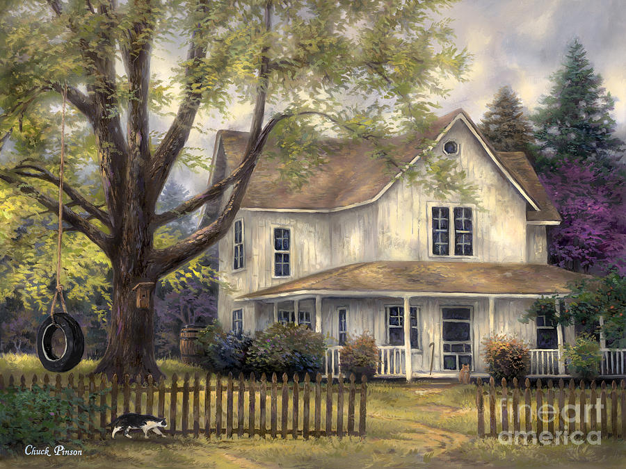 Simple country painting by chuck pinson for Classic house painting