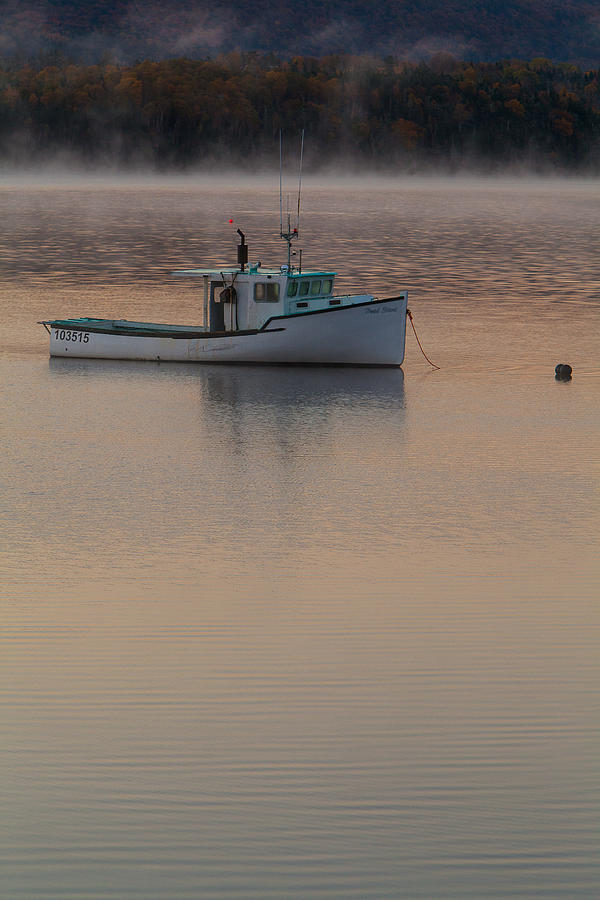 Boats Photograph - Simple Daybreak by Nicole Robinson