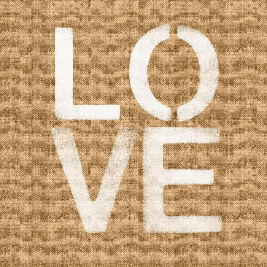 Love Painting - Simple Love by Linda Woods