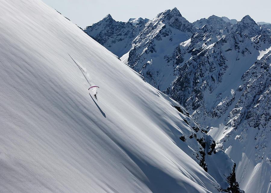 Ski Photograph - Simple Pleasure by Tristan Shu