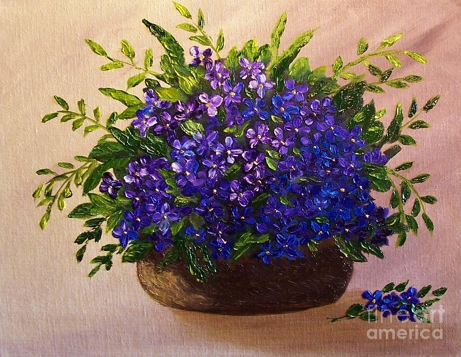Floral Painting - Simple Pleasures by Peggy Miller
