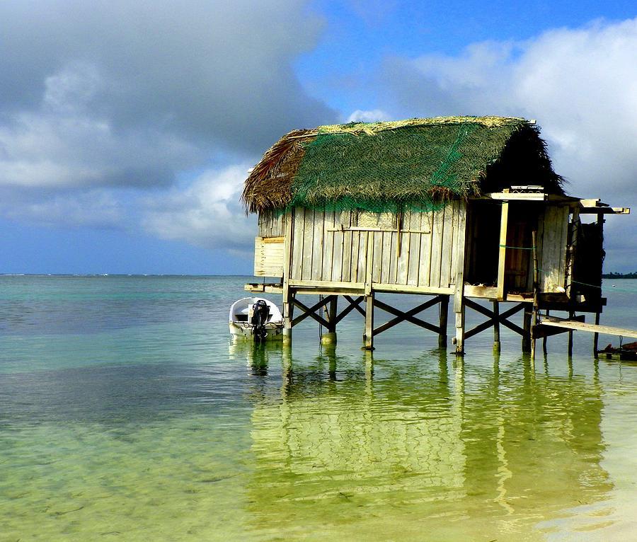 Fishing Shacks Photograph - Simple Solitude by Karen Wiles