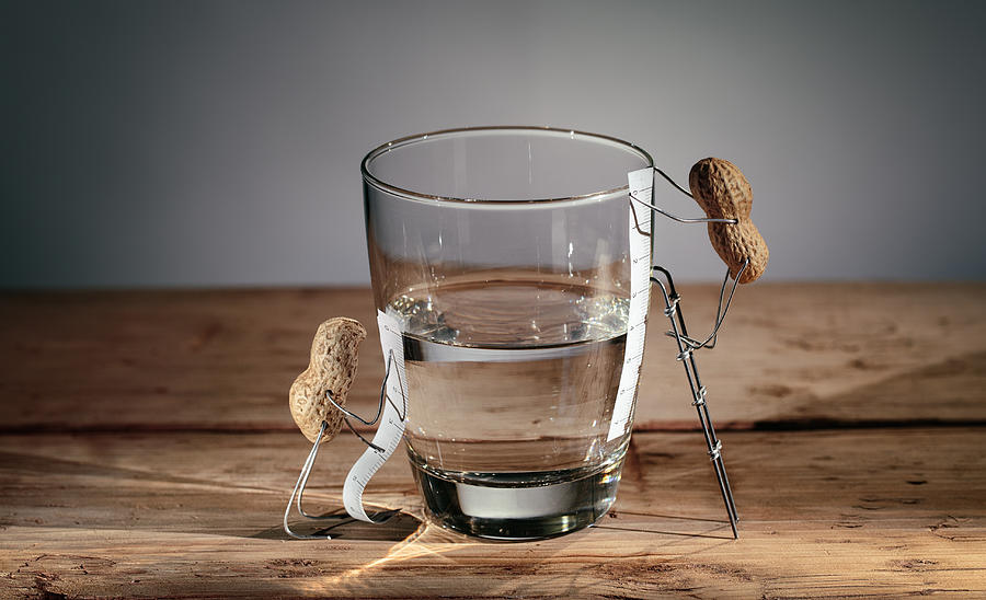 Simple Things - Half Empty Or Half Full Photograph