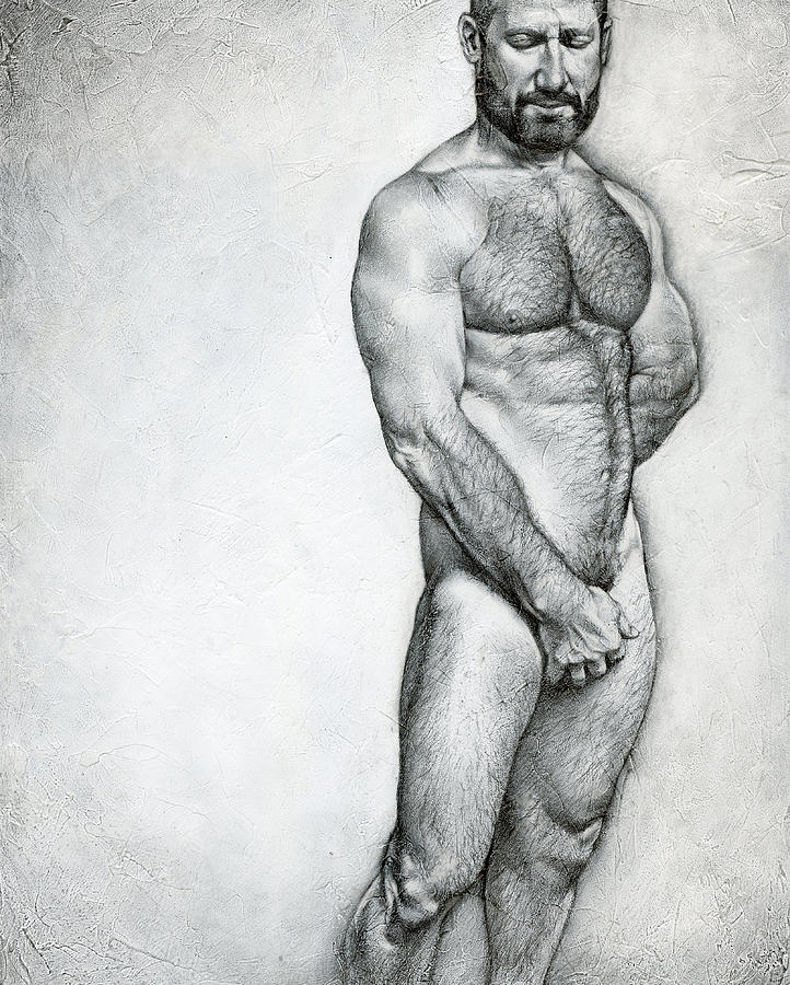 Male Drawing - Simplicity 3 by Chris Lopez
