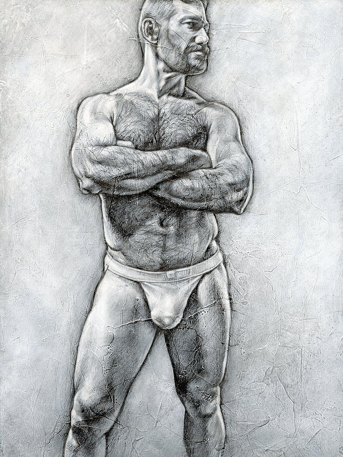 Male Drawing - Simplicity 6 by Chris Lopez