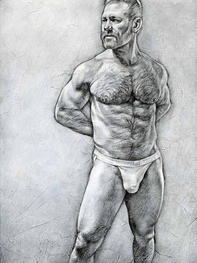 Male Drawing - Simplicity 7 by Chris Lopez