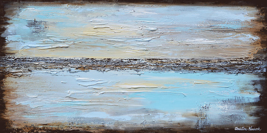 Abstracts Painting - Simplicity by Christine Bell