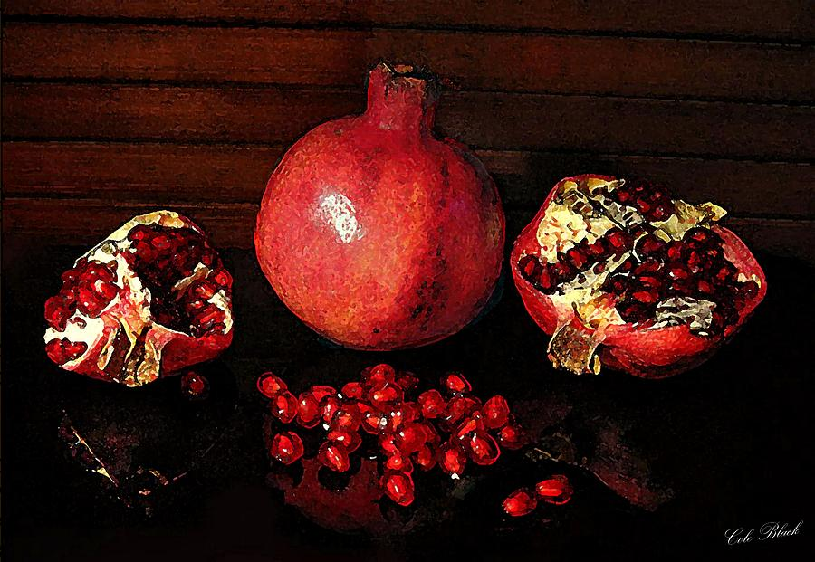 Pomegranate Painting - Simply Red by Cole Black