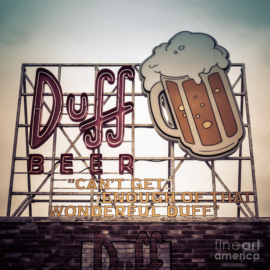 Florida Photograph - Simpsons Duff Beer Neon Sign by Edward Fielding