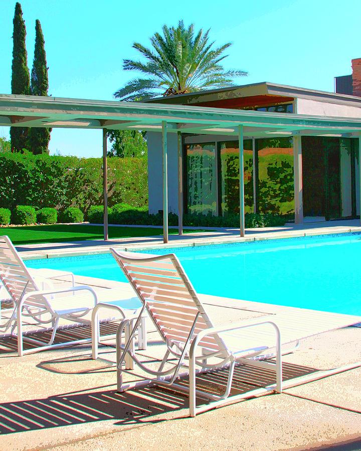 Frank Sinatra Photograph - SINATRA POOL Palm Springs by William Dey