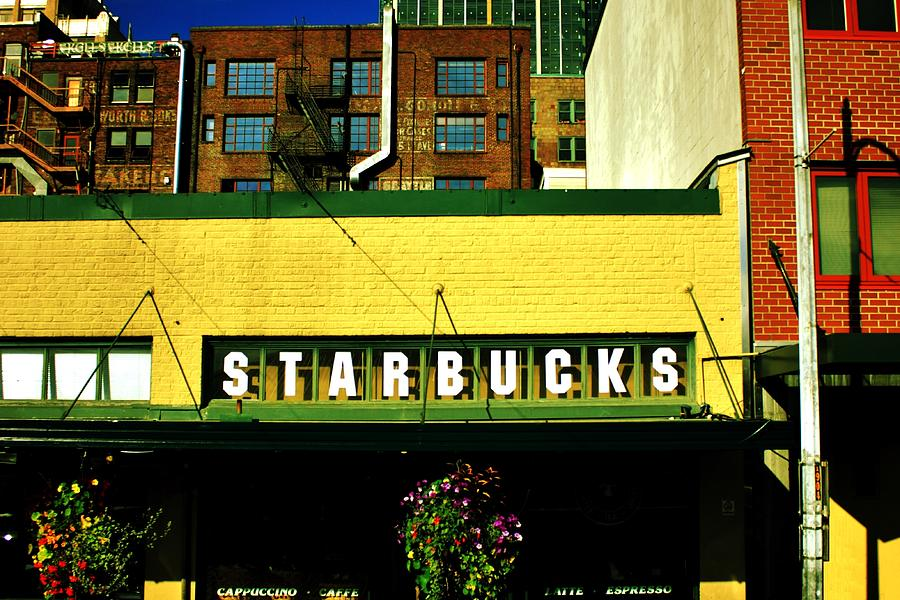 Starbucks Photograph - Since 1971 by Benjamin Yeager