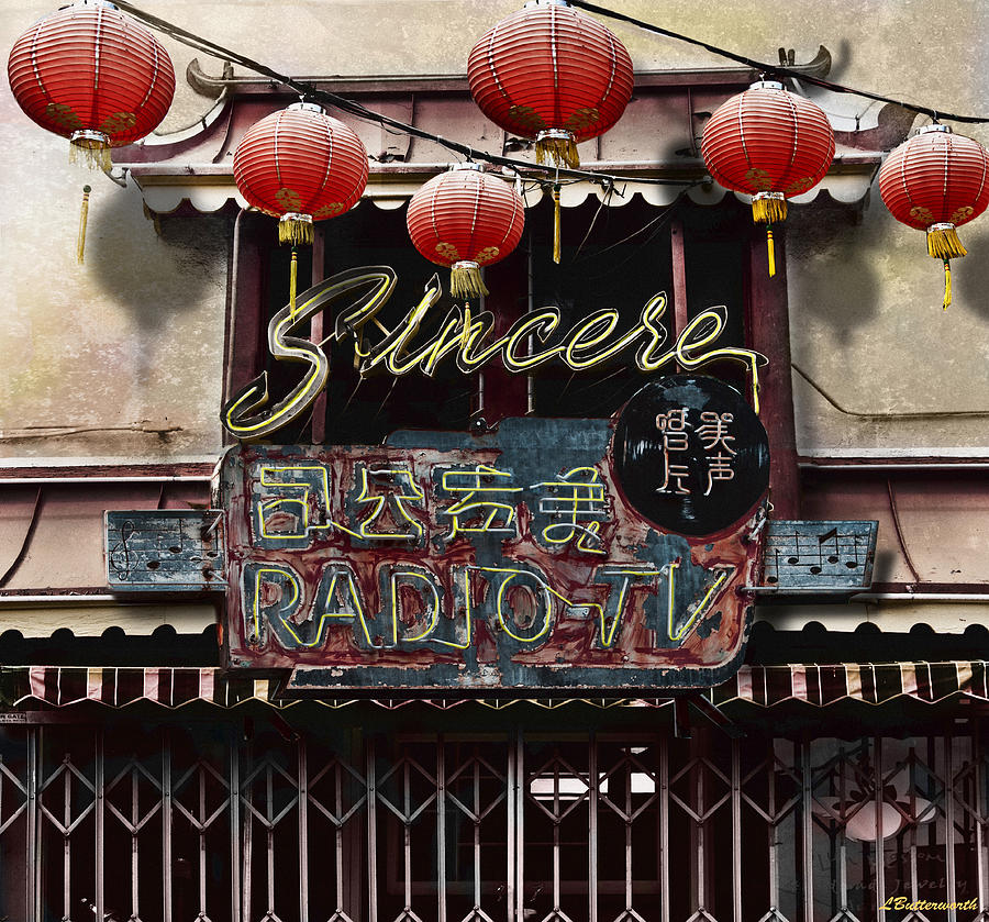 Chinatown Photograph - Sincere Radio Tv by Larry Butterworth