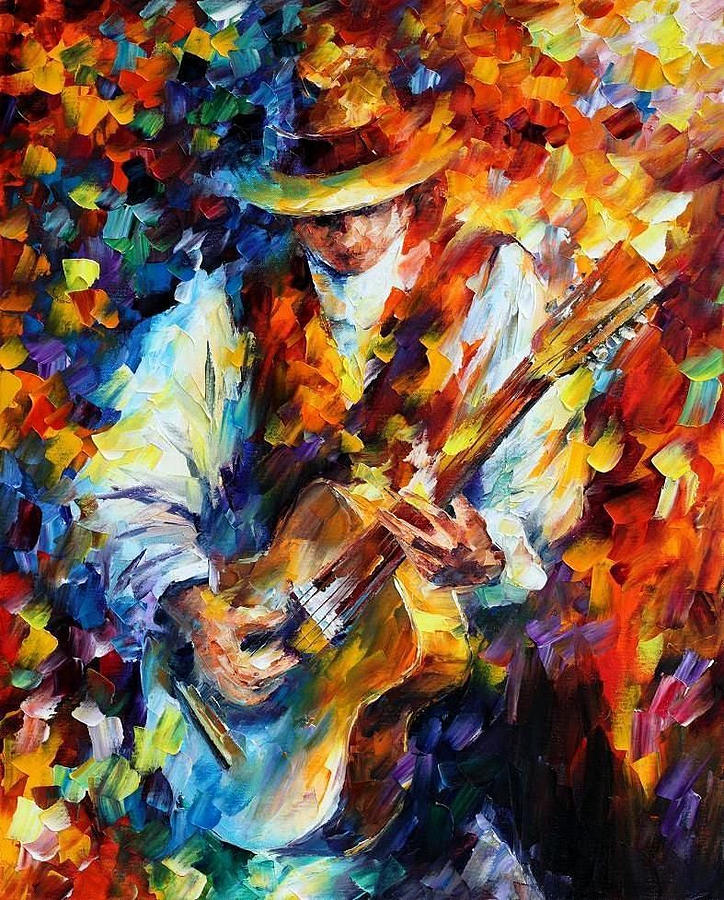 RAY CHARLES — PALETTE KNIFE Oil Painting On Canvas By