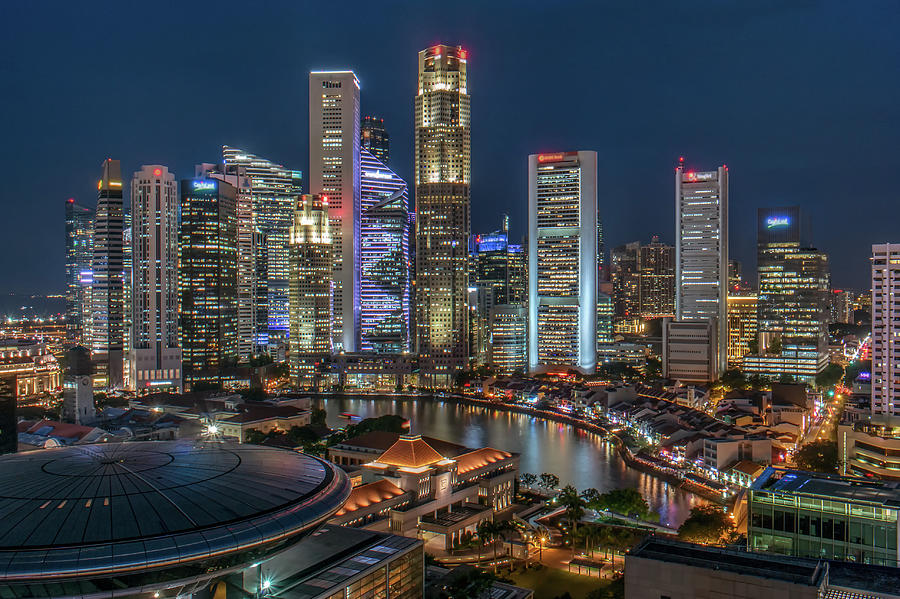 Singapore Central Business District Photograph by Edward Tian