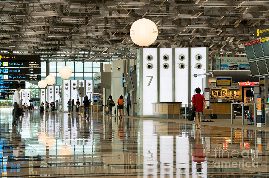 Singapore Photograph - Singapore Changi Airport 02 by Rick Piper Photography