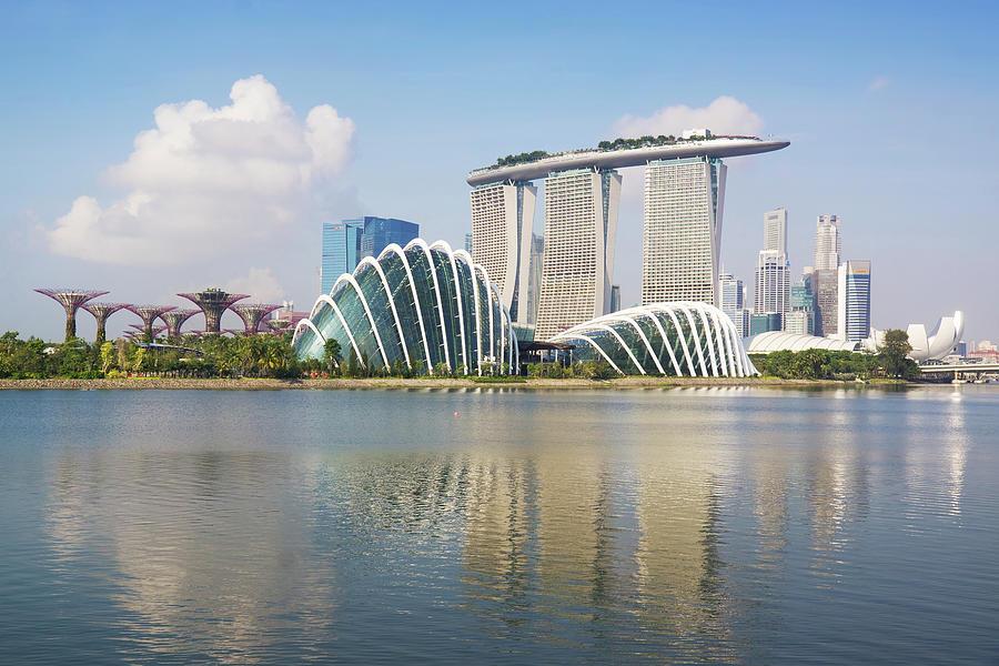 Singapore Skyline Photograph by Kokkai Ng