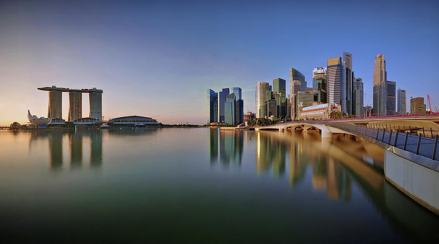 Singapore Skyline Panoramic View Photograph by © Copyright Kengoh8888