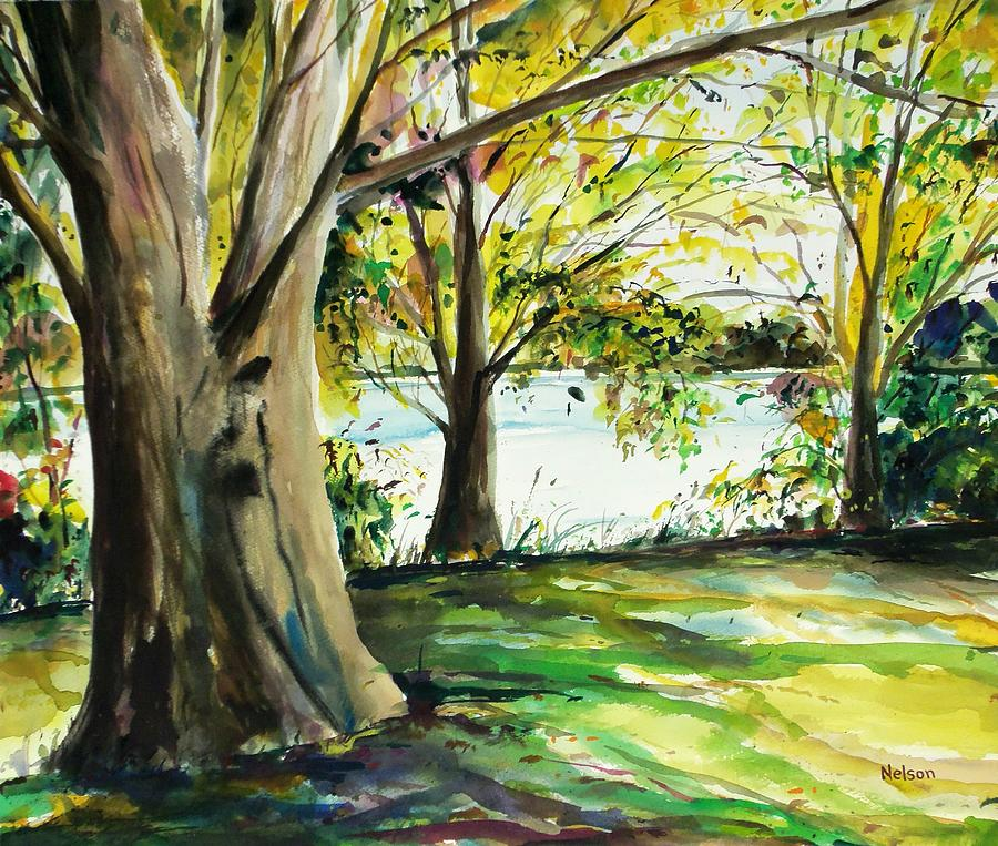 Watercolor Painting - Singeltary Shade by Scott Nelson