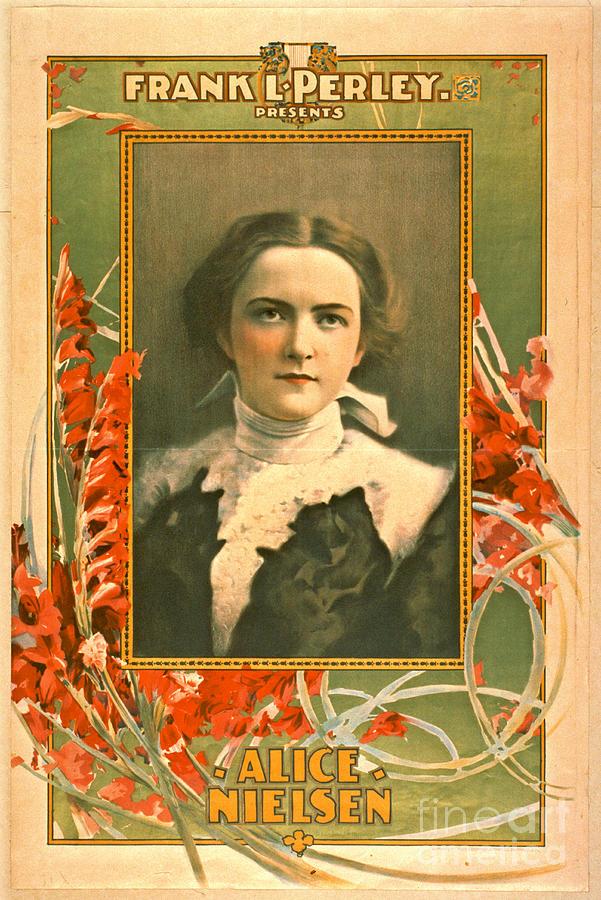 Singer Alice Nielsen 1899 Photograph - Singer Alice Nielsen 1899 by Padre Art