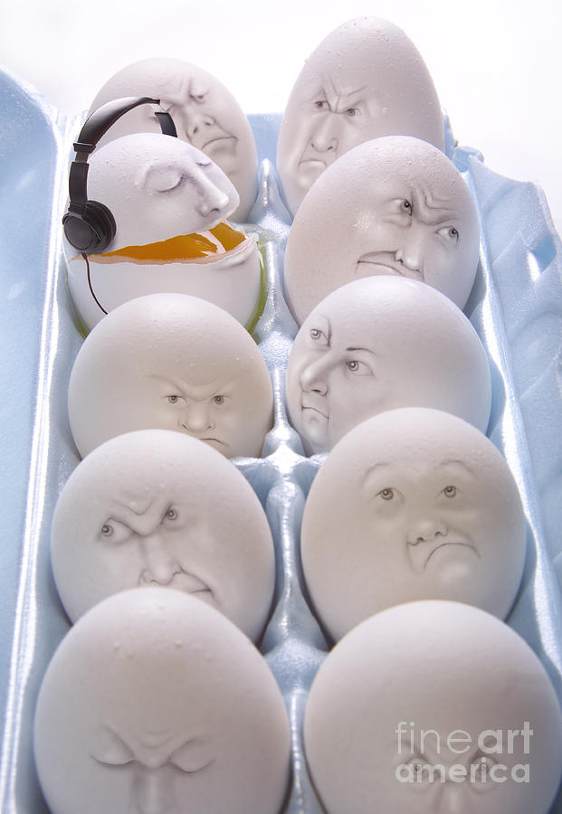 Egg Photograph - Singing Egg by Diane Diederich