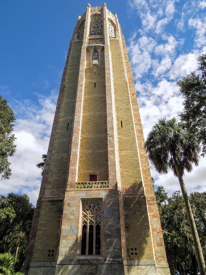Bok Tower Gardens Photograph - Singing Tower House Side View by Zina Stromberg