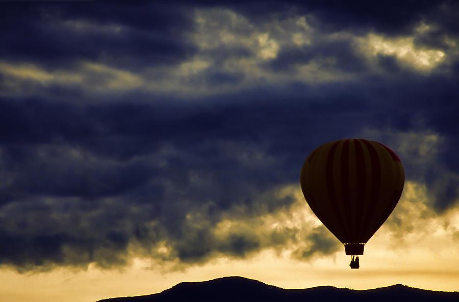 Hot Air Balloon Photograph - Single Ascension by Carol Leigh