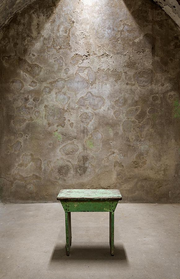 Green Photograph - Green Table by Maureen Fahey
