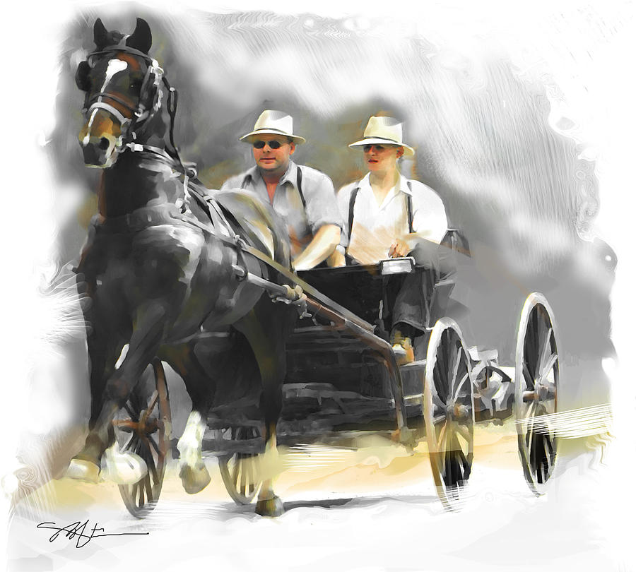 Horse Painting - Single Horse Power by Bob Salo