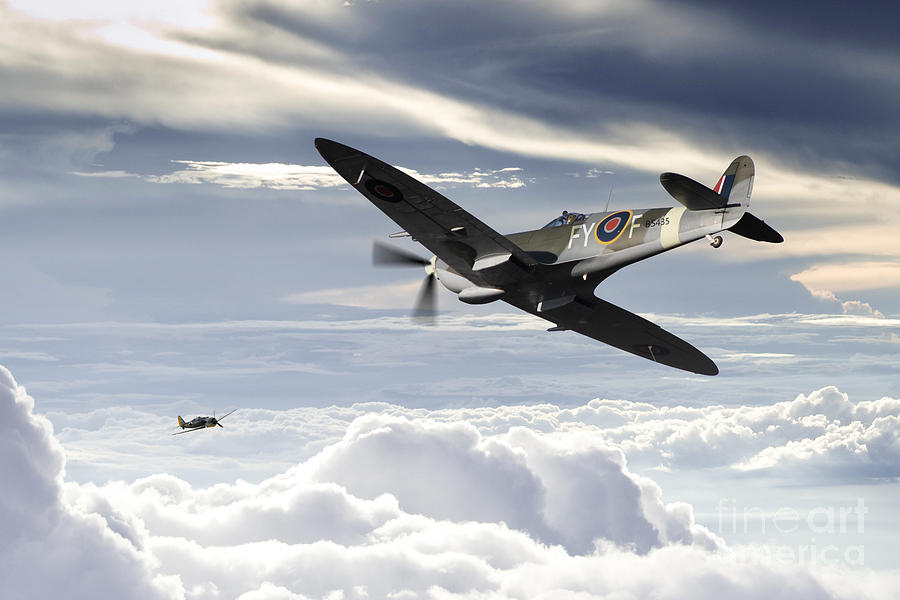 Supermarine Spitfire Digital Art - Sinker by J Biggadike