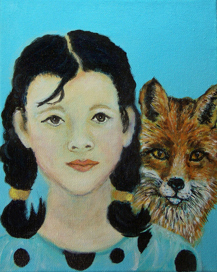 Angel Painting - Sinopa Little Fox by The Art With A Heart By Charlotte Phillips