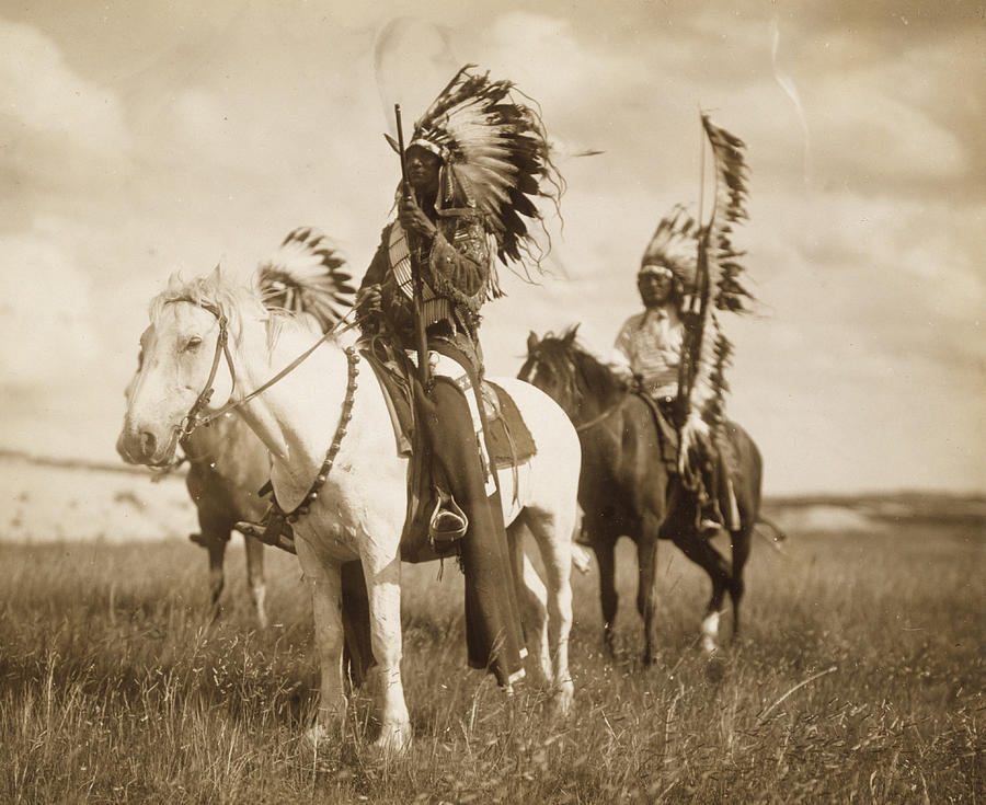 Indians Photograph - Sioux Chiefs  by Unknown