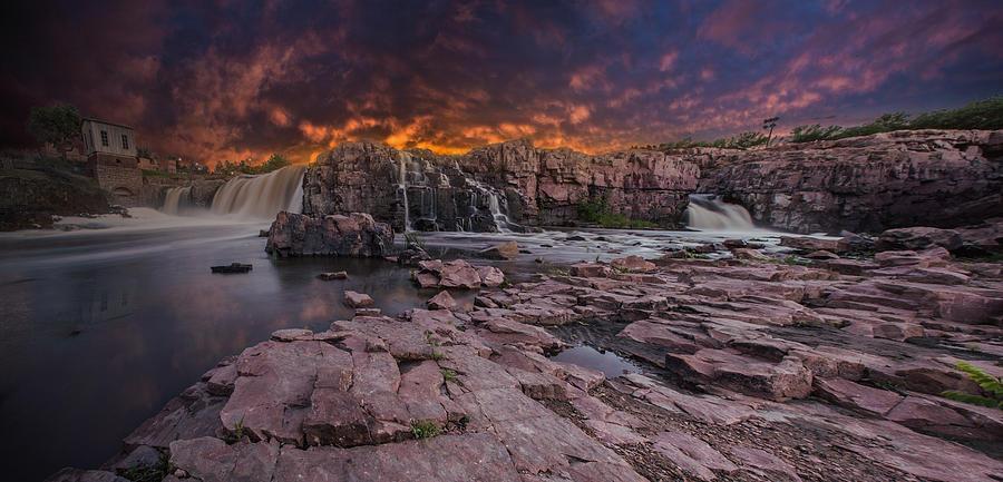 Sunset Photograph - Sioux Falls by Aaron J Groen