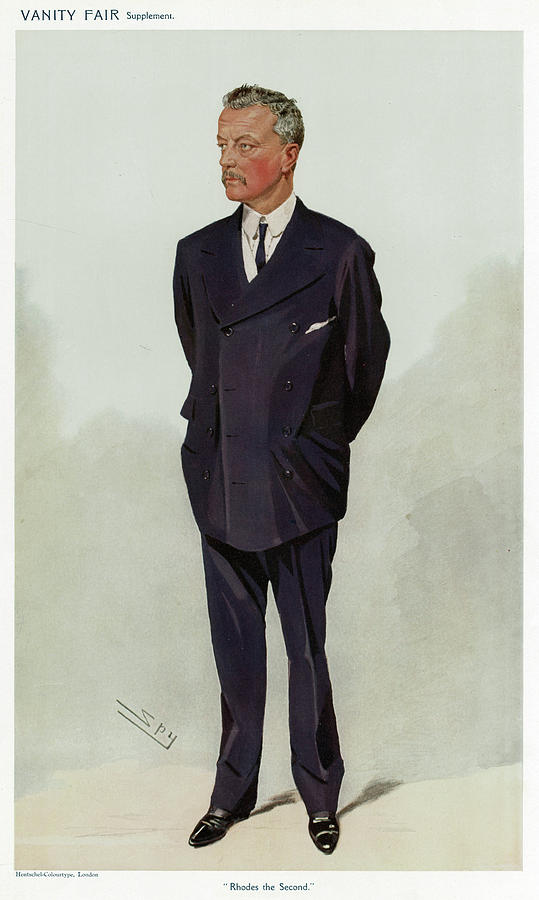 Sir Drawing - Sir Abe Bailey  African Financier by Mary Evans Picture Library
