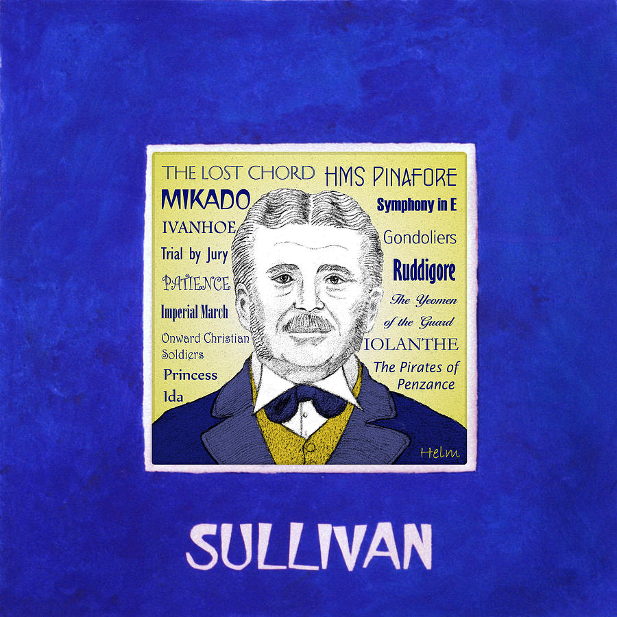 Gilbert And Sullivan Mixed Media - Sir Arthur Sullivan by Paul Helm
