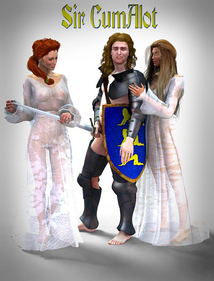 Knight Digital Art - Sir Cumalot by Frederico Borges