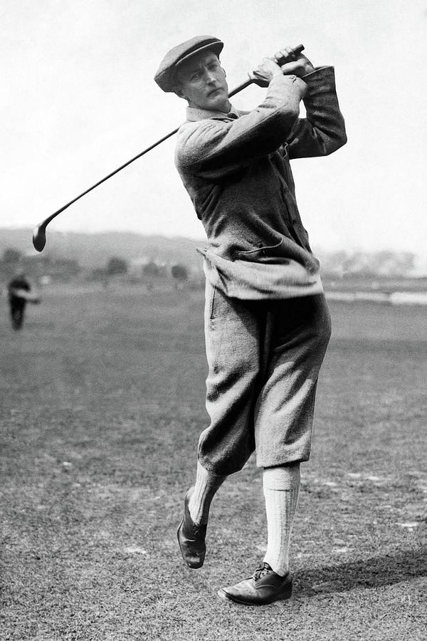 Sir Ernest Holderness Swinging His Club Photograph by Artist Unknown