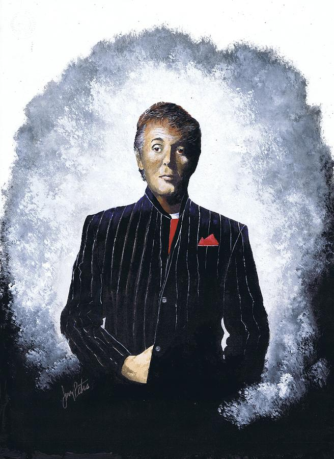Celebrity Painting - Sir Paul  by Jerry Bates