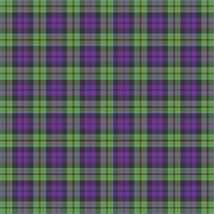 Scott Digital Art - Sir Walter Scott Purple And Green by Gregory Scott