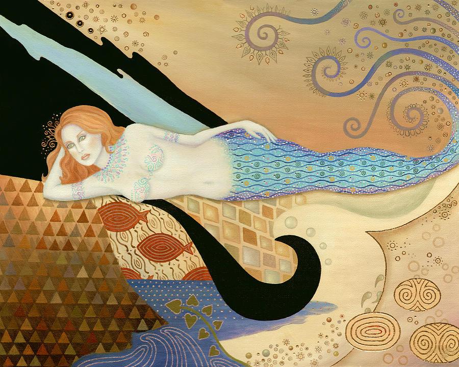 Mermaid Painting - Siren by the Sea by B K Lusk