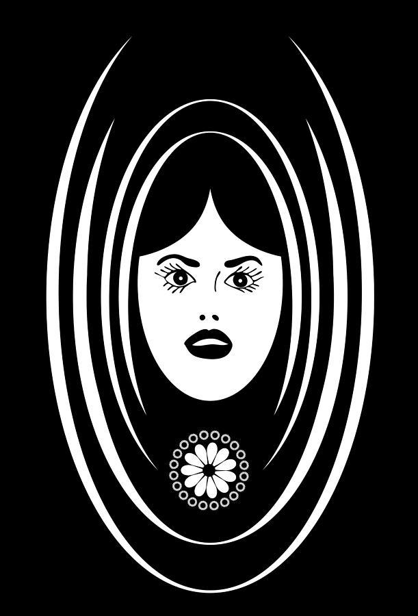 Siren Drawing - Siren by Frank Tschakert