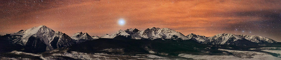 All Rights Reserved Photograph - Sirius Diffusion Over The Gore Range by Mike Berenson