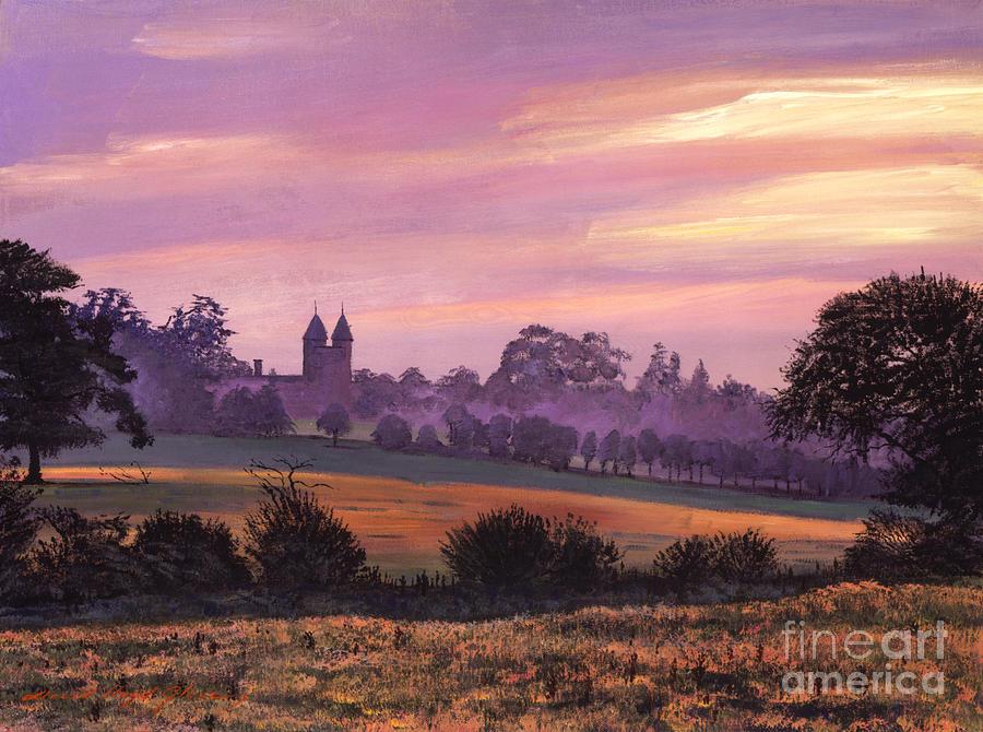Landscape Painting - Sissinghurst Castle Sunset by David Lloyd Glover