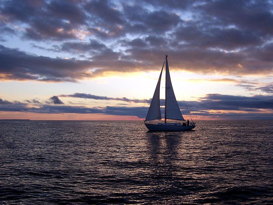Sister Bay Sunset Sail 1 Photograph