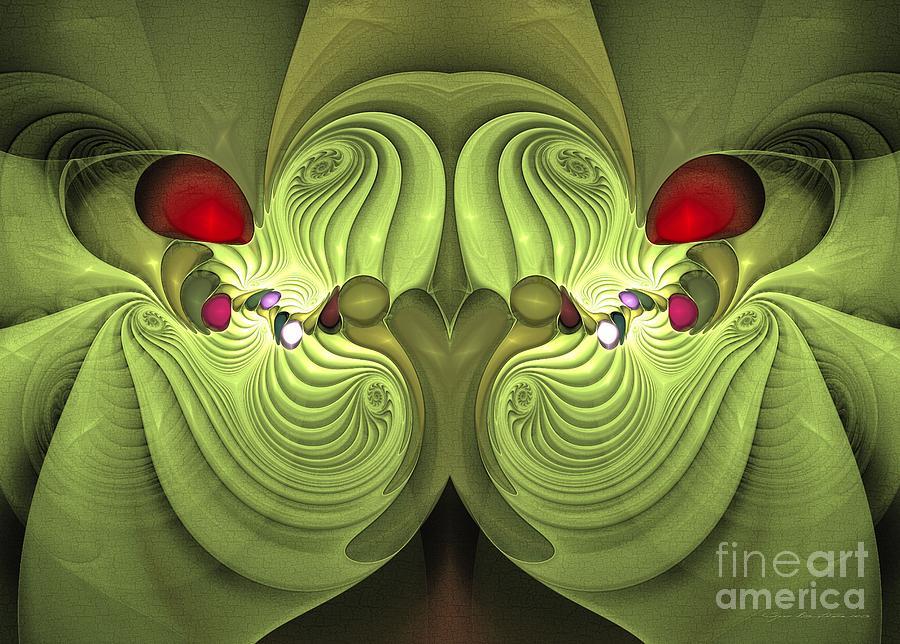 Surrealism Digital Art - Sister Squid - Surrealism by Sipo Liimatainen