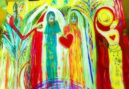 Acrylic Paint Painting - Sisterhood by Crystalin Ian