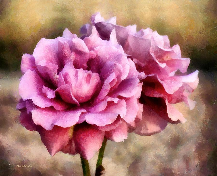 Roses Painting - Sisters Before The Storm by RC deWinter